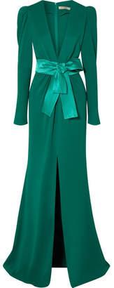 Sicily Silvia Tcherassi Gathered Crepe Gown - Emerald