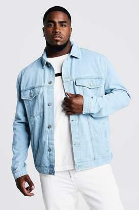 boohoo Big & Tall Denim Western Jacket