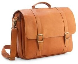 "Leather 15"" Laptop Satchel Brief"