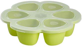 Beaba 6-Compartment Multiportions Silicone Food Storage (150 ml, Neon)