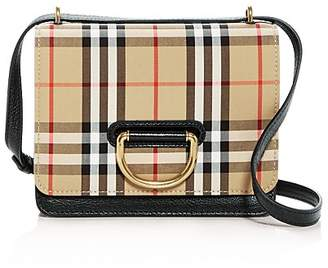 Burberry Small Vintage Check & Leather D-Ring Bag