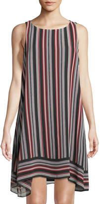 Max Studio Scarf-Print Sleeveless A-Line Dress