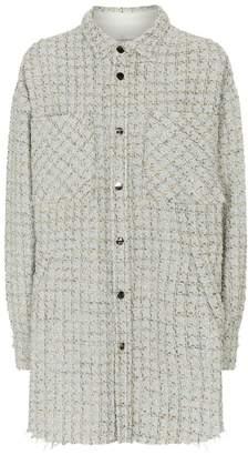 Faith Connexion Frayed Tweed Overshirt