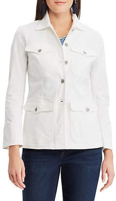 Chaps Petite Cotton-Blend Denim Jacket
