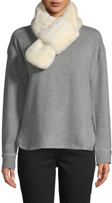 RENVY Faux Fur Pull-Through Scarf