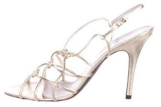 Jean-Michel Cazabat Metallic Slingback Sandals