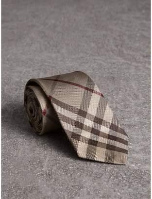 Burberry Modern Cut Check Silk Tie