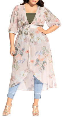 City Chic Summer Rose Duster