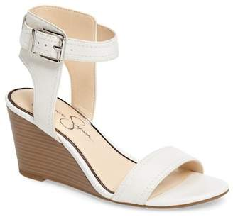 Jessica Simpson Cristabel Leather Wedge Sandal
