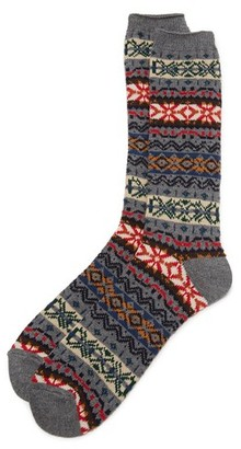 Anonymous Ism Fair Isle Crew Socks $26 thestylecure.com