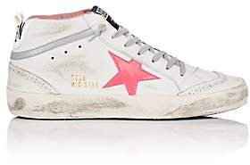 Golden Goose Women's Mid Star Leather Sneakers - White