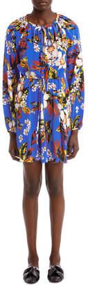 Diane von Furstenberg Long Sleeve High Neck Halter Dress