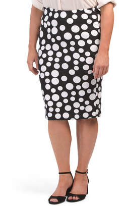 Plus Polka Dot Skirt