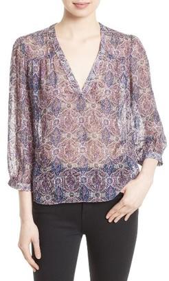 Women's Joie Frazier B Print Silk Blend Top $288 thestylecure.com