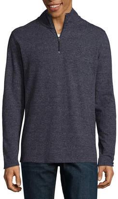 Claiborne Mock Neck Long Sleeve Layered Sweaters