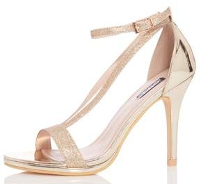 Next Womens Quiz Glitter V Strap Heels
