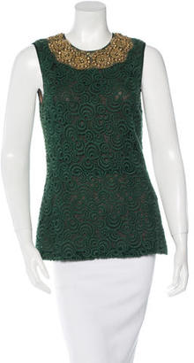 Vera Wang Embellished Sleeveless Top $95 thestylecure.com