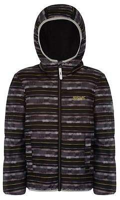Regatta Kids Coulby Jacket Girls Insulated Winter Chin Guard Hooded Full Zip Top