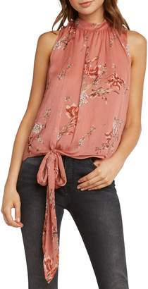 Willow & Clay Print Side Tie Tank Top