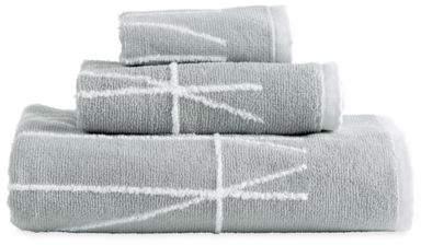 Geometrix Fingertip Towel in White/Slate