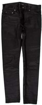 Saint Laurent D02 Waxed Skinny Jeans
