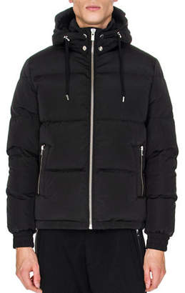 The Kooples Leather Detail Down Jacket
