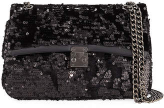 Jagger Kc Ava Velvet Sequin Shoulder Bag
