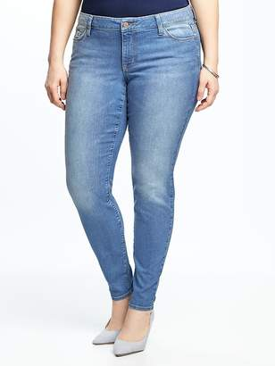 Old Navy Mid-Rise Plus-Size Super Skinny Ankle Jeans