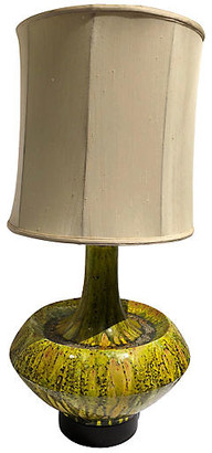 One Kings Lane Vintage Mid-Century Modern Drip-Glaze Table Lamp - Chic Transitions