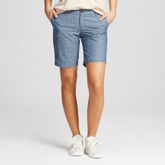 "Merona Women's 9"" Chino Shorts Chambray $19.99 thestylecure.com"