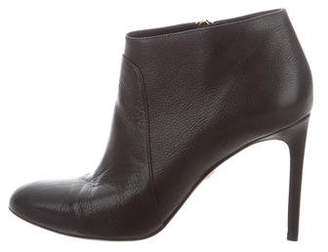 Diane von Furstenberg Pebble Leather Ankle Boots
