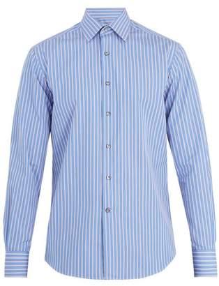 Lanvin Banker striped single-cuff cotton shirt