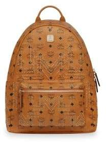 MCM Medium Stark Gunta Studded Backpack