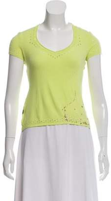 Just Cavalli Cut-Out Short Sleeve Top