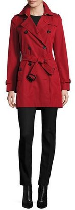 Burberry Kensington Mid-Length Trenchcoat, Red $1,795 thestylecure.com