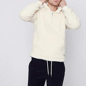 River Island Jack and Jones white fleece hoodie