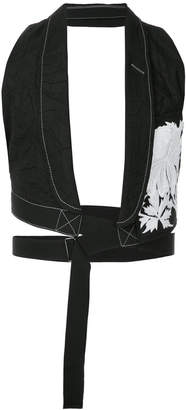 floral embroidered waistcoat