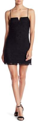 Honeybelle Honey Belle Star Neck Slit Mini Dress