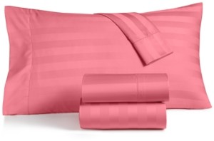 Charter Club Closeout! Damask Stripe King 4-Pc Sheet Set, 550 Thread Count 100% Supima Cotton, Created for Macy's Bedding