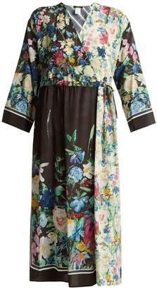 Max Mara Smalto floral-print silk dress