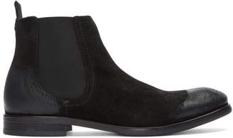 H By Hudson Black Suede Entwhistle Chelsea Boots