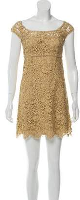 Dolce & Gabbana Lace Cap Sleeve Mini Dress