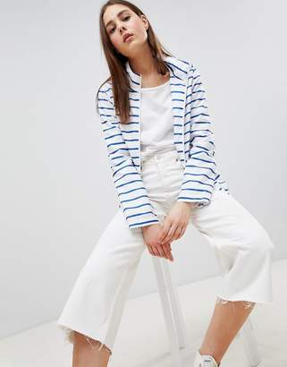 Brave Soul Rave Rain Trench in Stripe