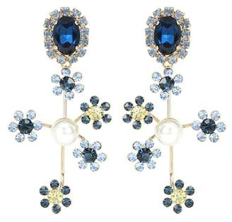 Erdem Floral cluster clip-on earrings