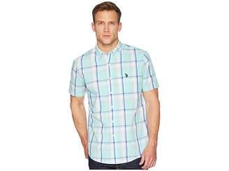 U.S. Polo Assn. Plaid Woven Shirt Men's Long Sleeve Button Up