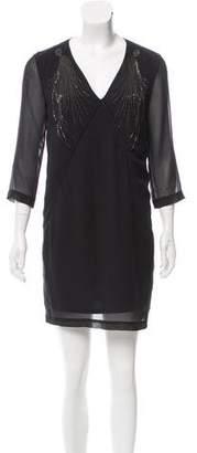 Robert Rodriguez Embellished Silk Dress