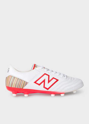 Paul Smith New Balance + Men's White MiUK-One Football Boots