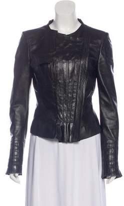 Gucci Ruffled Leather Jacket
