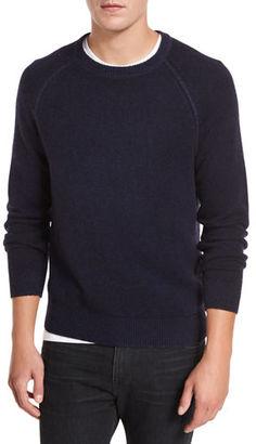 Vince Raglan Wool-Cashmere Crewneck Sweater $325 thestylecure.com