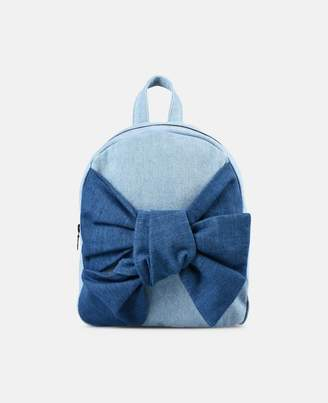 Stella McCartney blair bow denim backpack